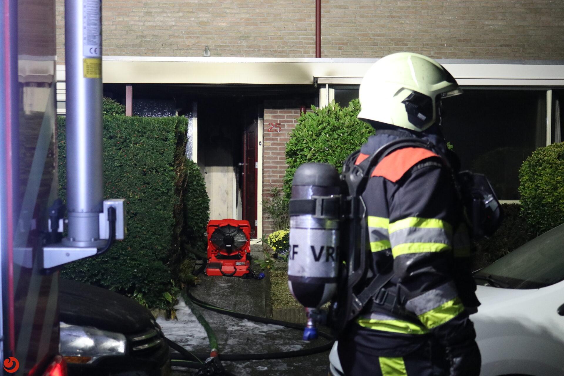Woning vol rook na forse keukenbrand in Drachten