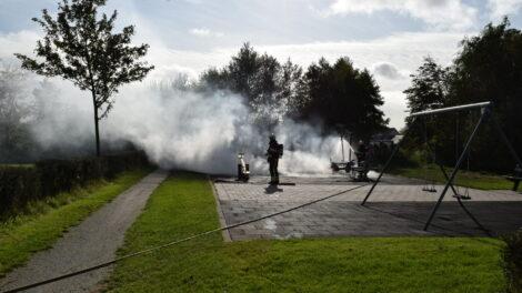 Speeltoestel verwoest door brandstichting in Twijzelerheide