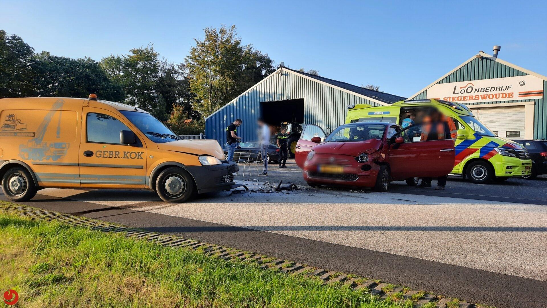 Twee gewonden bij ongeval Siegerswoude
